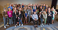 Survivors pose for group photo during the  National Brain Tumor Society Head to the Hill training event at the Hilton Crystal City hotel in Arlington, VA on May 7, 2018. (Photo by Alan Lessig_