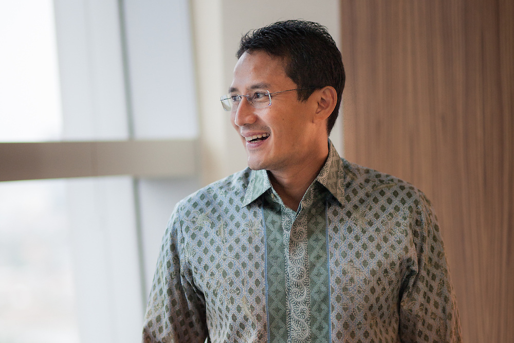 Profile of Sandiaga Uno, a prominent young Indonesian businessman/venture capitalist who is worth about $800 million.  Mr. Sandiaga is 43 years old, is US-educated, and is the posterchild for the new, modern Indonesian venture capitalist. He also co-owns one of the most profitable mining companies in the world.  Jakarta, Indonesia.  May 27, 2013.<br /> <br /> Andri Tambunan for The International Herald Tribune