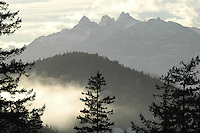 The Tantalus Mountain Range, near Squamish, BC in winter