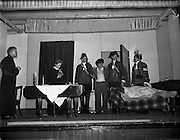 09/04/1961<br /> 04/09/1961<br /> 09 April 1961<br /> Opening of Thurles Drama Festival at Premier Hall Thurles, Co. Tipperary, organised by Muintir na Tíre and Gael Linn. The players in action.