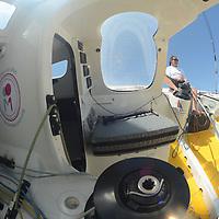 KITO DE PAVANT BASTIDE OPIO IMOCA 60' .  <br /> Faute de vent, le stand-by de Kito de Pavant sur son Imoca 60' Bastide Otio est interrompu pour cette fin juillet. Kito sera de retour avant la fin de la saison, avant son d&eacute;part pour l'atlantique et le Vend&eacute;e Globe, pour ouvrir la classe 60-65 pieds de la Sunlight Islands' Cup.