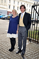 LAURA PARKER BOWLES and her husband HARRY LOPES at the wedding of Nicholas Van Cutsem to Alice Hadden-Paton at The Guards Chapel, Wellington Barracks, London on 14th August 2009.