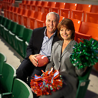 Steve and Kathy Gaunt met at the University of Miami in 1973, Steve was on the football team and Kathy was a cheerleader.  They are still happily married.
