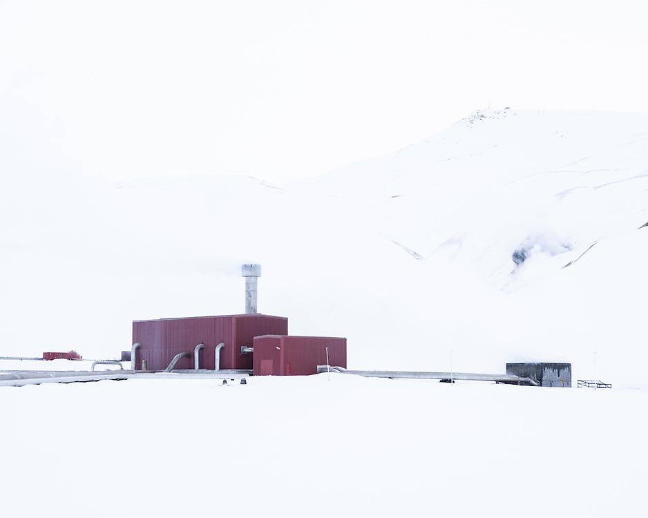 Infrastructure around Krafla Geothermal power station, Myvatn, Northern Iceland