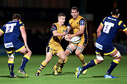 Billy Searle of Bristol Rugby passes the ball - Mandatory by-line: Robbie Stephenson/JMP - 04/11/2016 - RUGBY - Sixways Stadium - Worcester, England - Worcester Warriors v Bristol Rugby - Anglo Welsh Cup