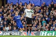 Valencia CF midfielder Daniel Wass (18) during the Champions League match between Chelsea and Valencia CF at Stamford Bridge, London, England on 17 September 2019.