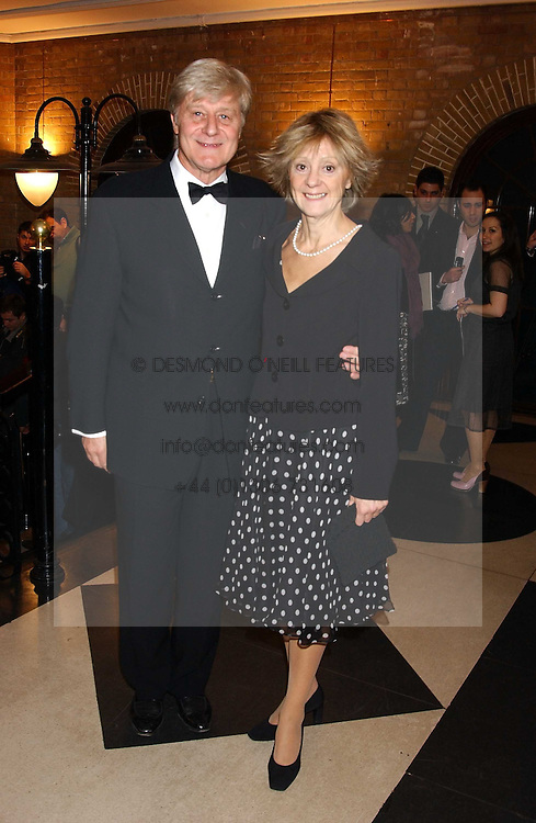 Actor MARTIN AYRES and his wife ROSALIND at the 2005 Whitbread Book Awards 2005 held at The Brewery, Chiswell Street, London EC1 on 24th January 2006. The winner of the 2005 Book of the Year was Hilary Spurling for her biography 'Matisse the Master'.<br />