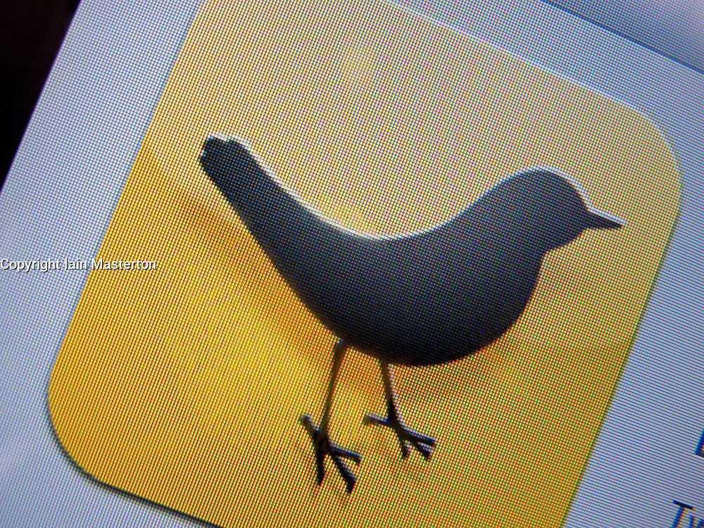 Close-up of icon for Tweetdeck social networking iPad app for Twitter