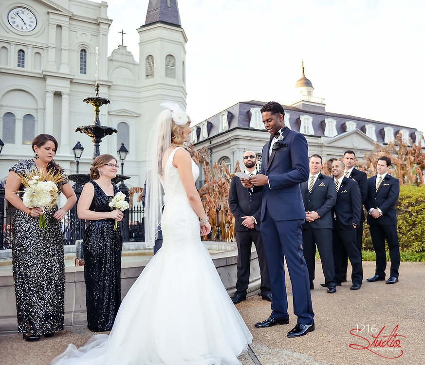 Chad & Abby Wedding 1216 Studio New Orleans Wedding Photographers | 2015 Jackson Square, Second Line, following the wedding celebration at the Pharmacy Museum, 1216Studio