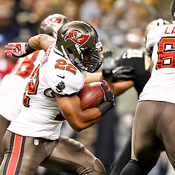 December 16, 2012; New Orleans, LA, USA; Tampa Bay Buccaneers running back Doug Martin (22) against the New Orleans Saints during the first quarter of a game at the Mercedes-Benz Superdome. The Saints defeated the Buccaneers 41-0. Mandatory Credit: Derick E. Hingle-USA TODAY Sports