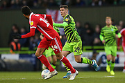 Forest Green Rovers Jack Aitchison(29), on loan from Celtic on the ball during the EFL Sky Bet League 2 match between Forest Green Rovers and Scunthorpe United at the New Lawn, Forest Green, United Kingdom on 7 December 2019.