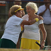 80 Womens Doubles Gold medal winners, Jutta Apel, Germany, and Elsie Crowe, Australia,  during the 2009 ITF Super-Seniors World Team and Individual Championships at Perth, Western Australia, between 2-15th November, 2009.