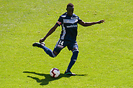 MELBOURNE, VIC - JANUARY 20: Melbourne Victory defender Thomas Deng (14) crosses the ball during the Hyundai A-League Round 14 soccer match between Melbourne Victory and Wellington Phoenix at AAMI Park in VIC, Australia on 20th January 2019. Image by (Speed Media/Icon Sportswire)