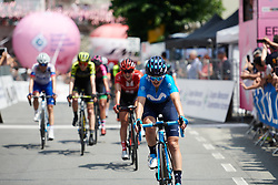 Malgorzata Jasinska (POL) crosses the line on Stage 2 of 2019 Giro Rosa Iccrea, an 78.3 km road race starting and finishing in Viù, Italy on July 6, 2019. Photo by Sean Robinson/velofocus.com
