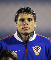 Fussball International, Nationalmannschaft   EURO 2012 Play Off, Qualifikation, Kroatien - Tuerkei       15.11.2011 Ognjen Vukojevic (Kroatien)