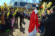Palm Sunday procession in Peekskill, NY