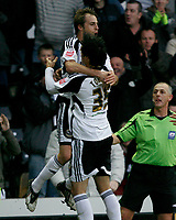 Photo: Steve Bond/Richard Lane Photography. Derby County v Crystal Palace. Coca Cola Championship. 06/12/2008. Luke Varney (L) celebrates his equaliser