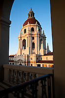 Pasadena City Hall Dome Framed in Archway, California