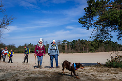 18-03-2018 NED: We hike to change diabetes, Soest<br /> Training voor de Camino 2018 op de Soesterduinen / Ellen, Ijda, Belder