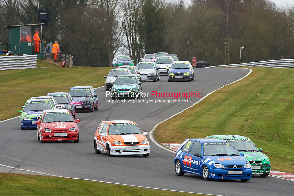 #12 Adam BATTY Citroen Saxo VTR 1600 during Junior Saloon Car Championship as part of the BARC NW - Championship Raceday  at Oulton Park, Little Budworth, Cheshire, United Kingdom. March 19 2016. World Copyright Peter Taylor/PSP. Copy of publication required for printed pictures.  Every used picture is fee-liable. http://archive.petertaylor-photographic.co.uk