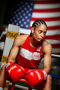 6/24/11 2:38:06 PM -- Colorado Springs, CO. -- A portrait of U.S. Olympic lightweight boxer Queen Underwood, 27, of Seattle, Wash. who will be competing for her fifth title. She began boxing in 2003 and was the 2009 Continental Champion and the 2010 USA Boxing National Champion. She is considered a likely favorite to medal at the 2012 Summer Olympics in London as women's boxing makes its debut as an Olympic sport. -- ...Photo by Marc Piscotty, Freelance.
