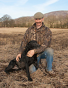 Kenny Prentice with is labrador gundog