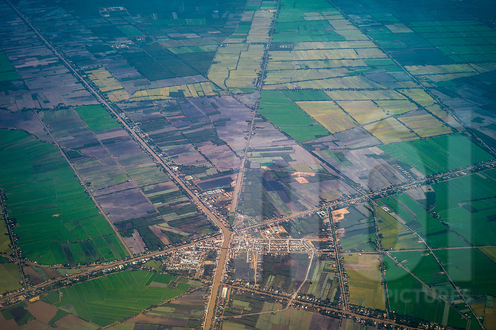 Aerial view of Tan Thanh city, Long An Province<br /> Vietnam, Southeast Asia