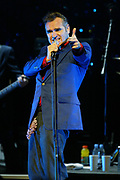 NEW YORK - MAY 3:  Singer Morrissey performs at the Apollo Theater  May 3, 2004 in New York City.  (Photo by Matthew Peyton)