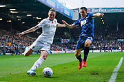 Leeds United defender Luke Ayling (2) and Blackburn Rovers midfielder Stewart Downing (19) during the EFL Sky Bet Championship match between Leeds United and Blackburn Rovers at Elland Road, Leeds, England on 9 November 2019.