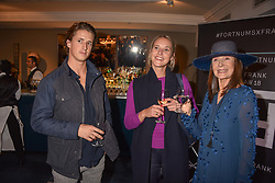 Left to right, Nick Campbell, Ottilie Windsor, Cherryl Cohen at the third annual Fortnum's x Frank exhibition at Fortnum & Mason, 181 Piccadilly, London, UK on September 12, 2018.<br /> 12 September 2018.