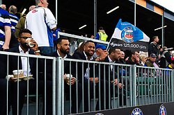 Joe Cokanasiga and other non-playing Bath Rugby players look on from the stand - Mandatory byline: Patrick Khachfe/JMP - 07966 386802 - 13/10/2018 - RUGBY UNION - The Recreation Ground - Bath, England - Bath Rugby v Toulouse - Heineken Champions Cup