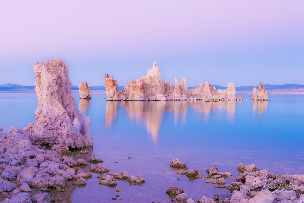 Tufa towers at dusk on the south shore of Mono Lake, Mono Basin National Scenic Area, California