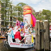 NLD/Amsterdam//20170805 - Gay Pride 2017, HIV boot