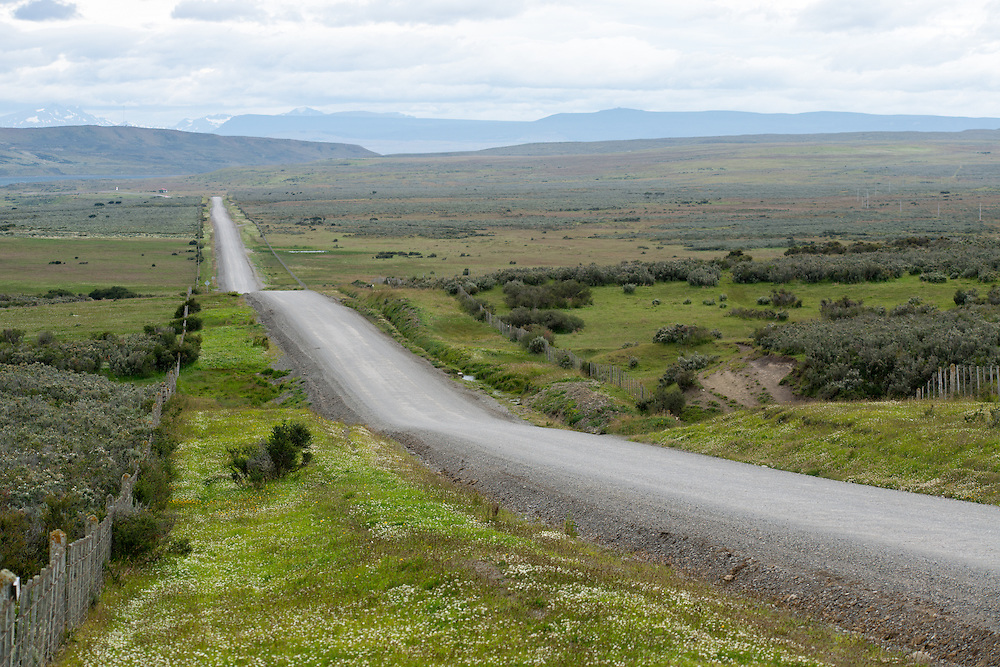 Road through patagonia chile