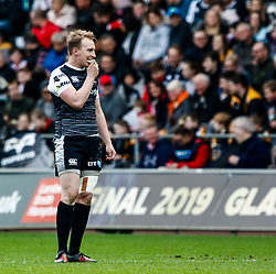 Luke Price of Ospreys<br /> <br /> Photographer Simon King/Replay Images<br /> <br /> Guinness PRO14 Round 18 - Ospreys v Dragons - Saturday 23rd March 2019 - Liberty Stadium - Swansea<br /> <br /> World Copyright © Replay Images . All rights reserved. info@replayimages.co.uk - http://replayimages.co.uk