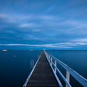 Swan Bay Jetty at dusk