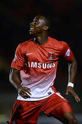 Leyton Orient's Moses Odubajo   - Photo mandatory by-line: Mitchell Gunn/JMP - Tel: Mobile: 07966 386802 17/09/2013 - SPORT - FOOTBALL -  Matchroom Stadium - London - Leyton Orient v Notts County - Sky Bet League One