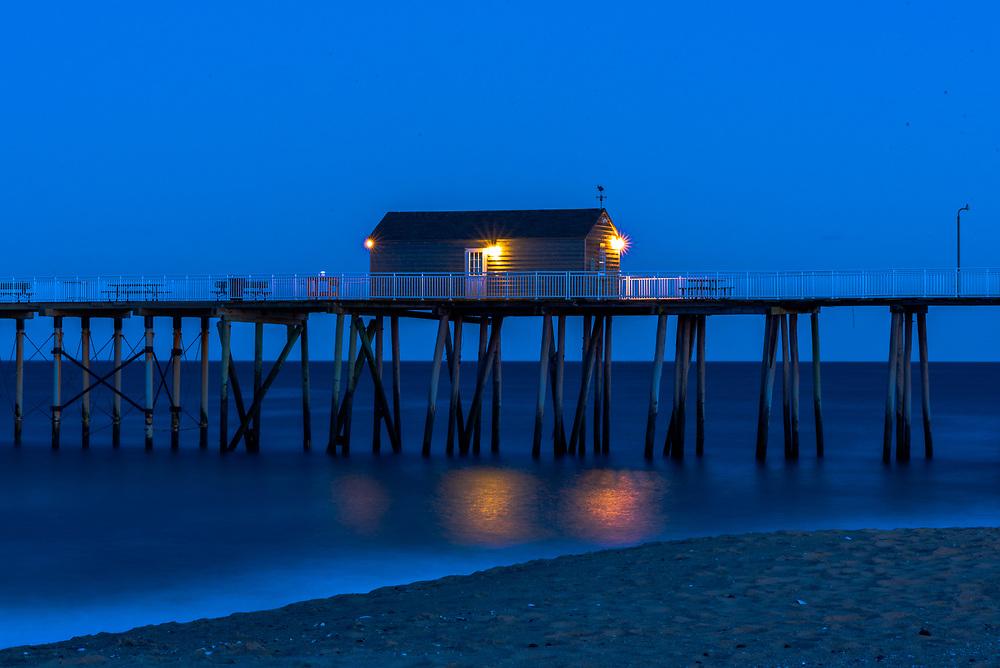 Fishing Pier at the Jersey Shore as dusk falls