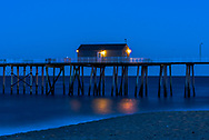 Fishing Pier at the Jersey Shore as dusk falls