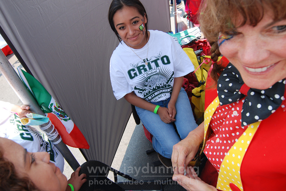 Green, white and red were the patriotic colors of the day on Sunday in Salinas for the traditional El Grito Festival.