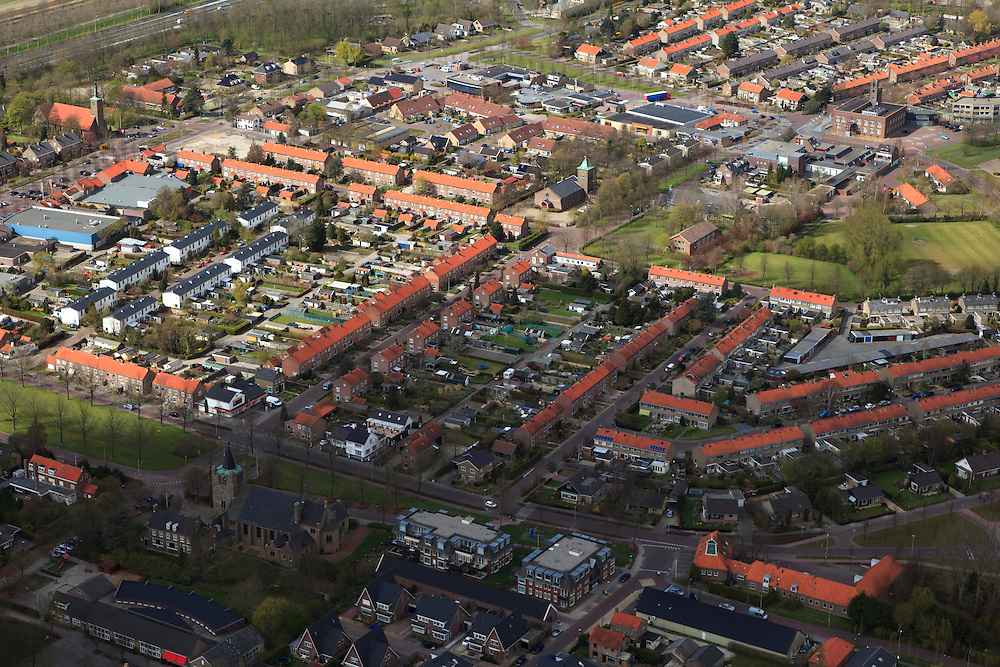 Nederland, Noord-Holland, Gemeente Wieringermeer, 16-04-2012. Wieringerwerf. Planned Village Wieringerwerf in polder...luchtfoto (toeslag), aerial photo (additional fee required);.copyright foto/photo Siebe Swart