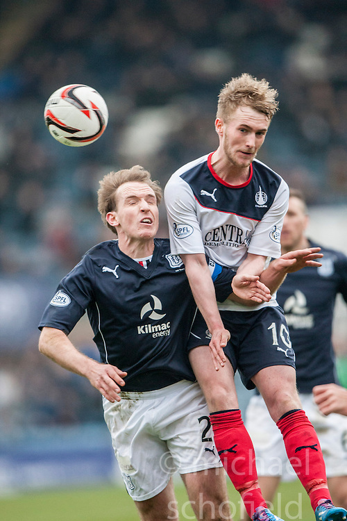 Dundee's Gary Irvine and Falkirk's Craig Sibbald. Dundee 0 v 1 Falkirk, Scottish Championship game played today at Dundee's Dens Park.<br /> &copy; Michael Schofield.