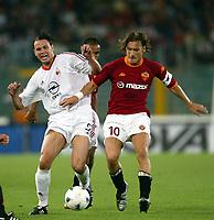 Roma 20 Maggio 2003 - Rome May 20 2003 <br /> Andata finale di Coppa Italia - First Match final Italy's Cup <br /> Roma Milan 1-4 <br /> <br /> Fernando Carlos Redondo (Milan)  Francesco Totti (Roma)