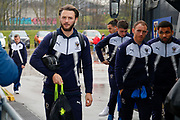AFC Wimbledon defender Callum Kennedy (23) arriving  during the EFL Sky Bet League 1 match between Rotherham United and AFC Wimbledon at the AESSEAL New York Stadium, Rotherham, England on 3 February 2018. Picture by Simon Davies.