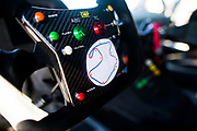 September 21-24, 2017: Lamborghini Super Trofeo at Laguna Seca. Steering wheel detail