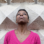 "Ferrara, Italy, October 5, 2013. Noo Saro-Wiwa, Nigerian writer. Her debut book ""Looking for Transwonderland"" (Granta, 2012) is the story of her journey to Nigeria after many years of absence. Ms. Saro-Wiwa left Nigeria due to the assassination of her father, Ken Saro-Wiwa, a writer and activist who was arrested and condemned to death by a military court because of his fight against environmental damages caused by Shell in Nigeria. Since 1958 the Shell company has been extracting oil from the delta of the Niger river. 'Looking for Transwonderland' in 2012 was named the Sunday Times travel book of the year and was named by The Guardian as one of the ten best books on Africa. Ms. Saro-Wiwa lives in London."