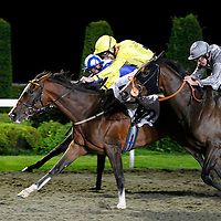 Trucanini and George Baker winning the 8.15 race