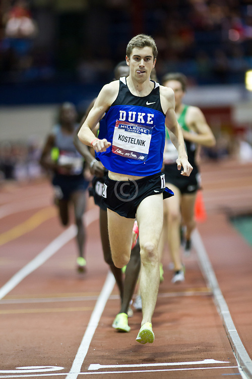 Millrose Games indoor track and field: mens two-mile, Kostelnik, pacesetter