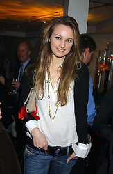 BRYONY DANIELS at the launch of a new bar Bardo, 101-105 Walton Street, London SW3 on 29th November 2005.<br />