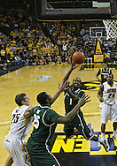 February 2 2011: Michigan State Spartans guard Kalin Lucas (1) puts up a shot during the first half of an NCAA college basketball game at Carver-Hawkeye Arena in Iowa City, Iowa on February 2, 2011. Iowa defeated Michigan State 72-52.